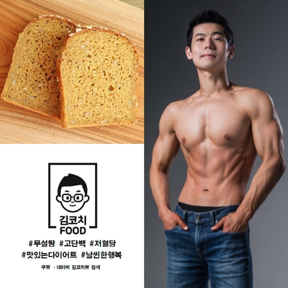 김코치빵 프로틴통밀빵, 100g, 10개