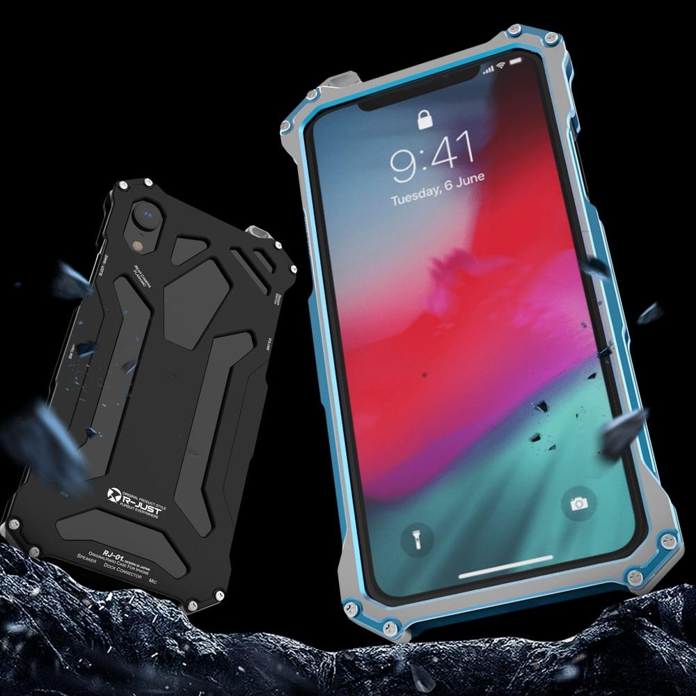 R just 원래 디자인 알루미늄 전화 케이스 아이폰 x xs 최대 xr 갑옷 케이스 아이폰 xs 최대 xr 및 금속 케이스 전화 쉘