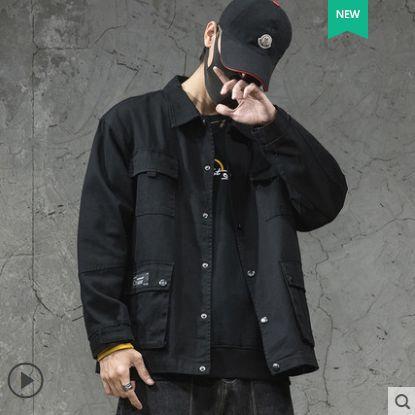 남성 트러커 자켓 오버핏 루즈핏 캐주얼 자켓