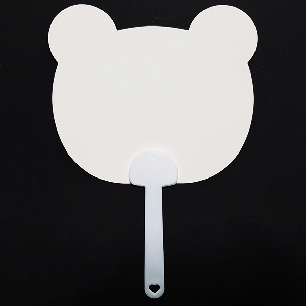 ABC문구 부채만들기 종이부채 한지부채 학습용 미술재료 그리기 꾸미기, 튼튼종이부채 : 곰