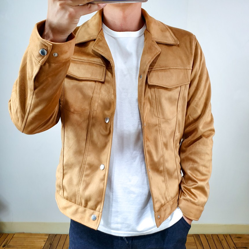 코코로맨틱 남자 가을 트러커 스웨이드 자켓