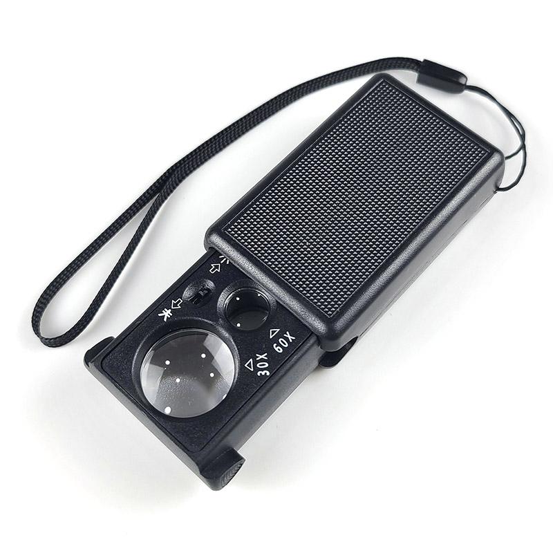 해브잇올 30X-60X 슬라이드 LED 루페 돋보기 확대경 독서, 1개
