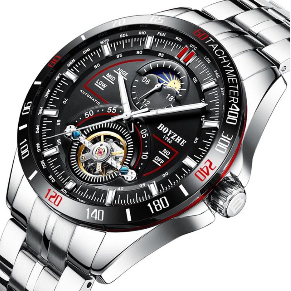 BABAZON 남성시계 손목시계 오토매틱시계 남성메탈시계 브랜드 남자시계 메탈시계 BW01