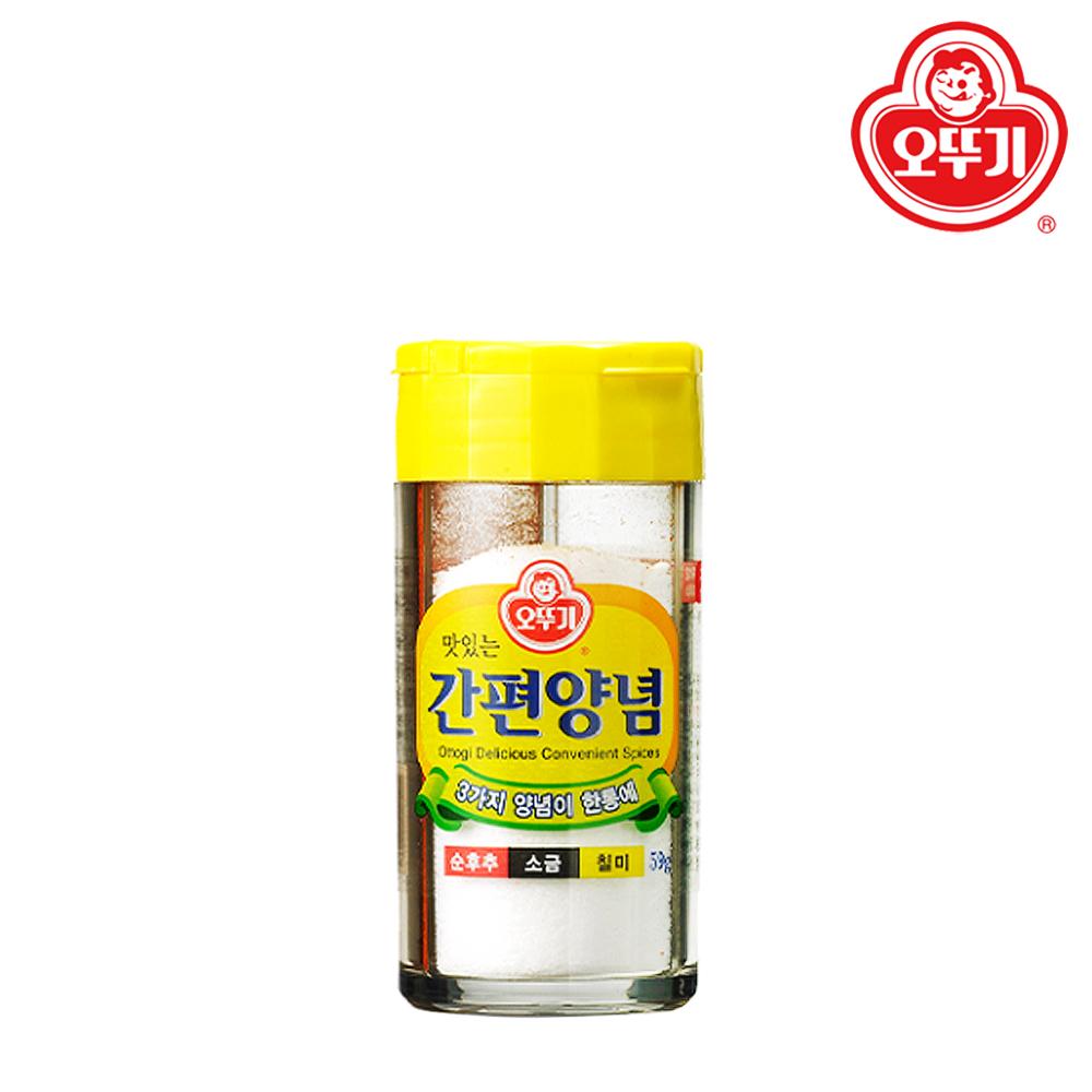 오뚜기 맛있는 간편 양념 59g (후추 소금 칠미), 단일상품