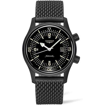[론진] 시계 론진 레전드 다이버 오토매틱 블랙 PVD L3.774.2.50.9 남성 정식 수입품 9999993337442