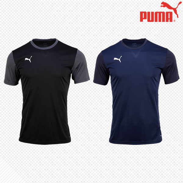 푸마 반팔 라운드 티셔츠 반티 클론티셔츠 헬스 운동복