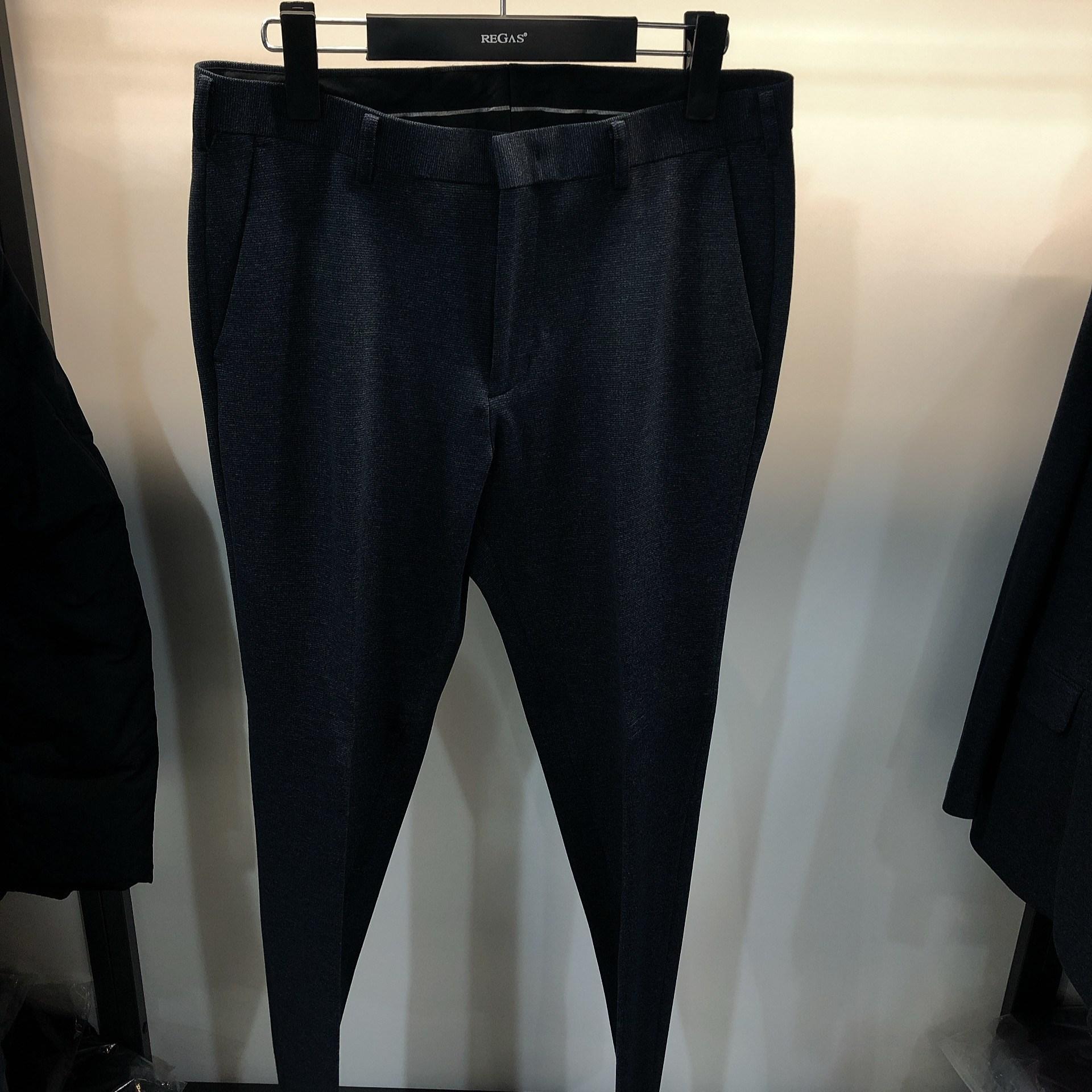 [행복한백화점][보스렌자]남성 기본라인 정장팬츠 슬랙스 심플 블루네이비멜란지 팬츠 RFFSL9350