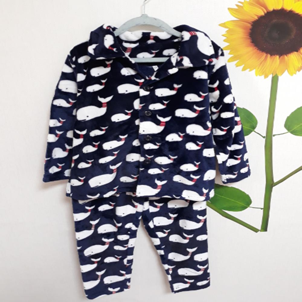 우현쇼핑몰 아동수면잠옷 밍크수면 상하세트 유아동잠옷 돌고래