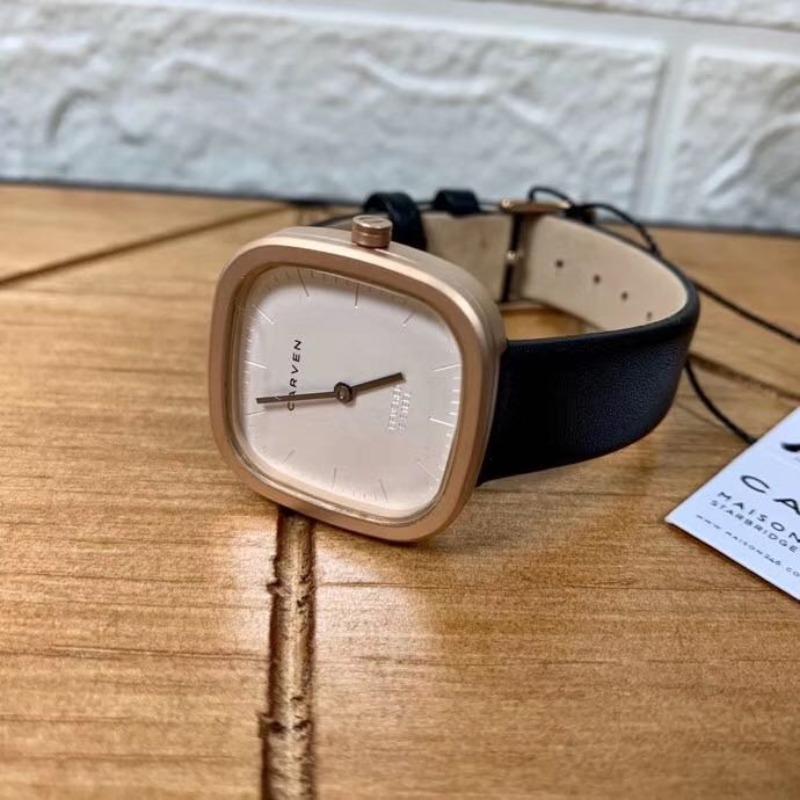 커플시계 carven손목시계 커플룩 복고 프랑스 개성 브랜드 심플 분위기있는 방수 학생 손목시계