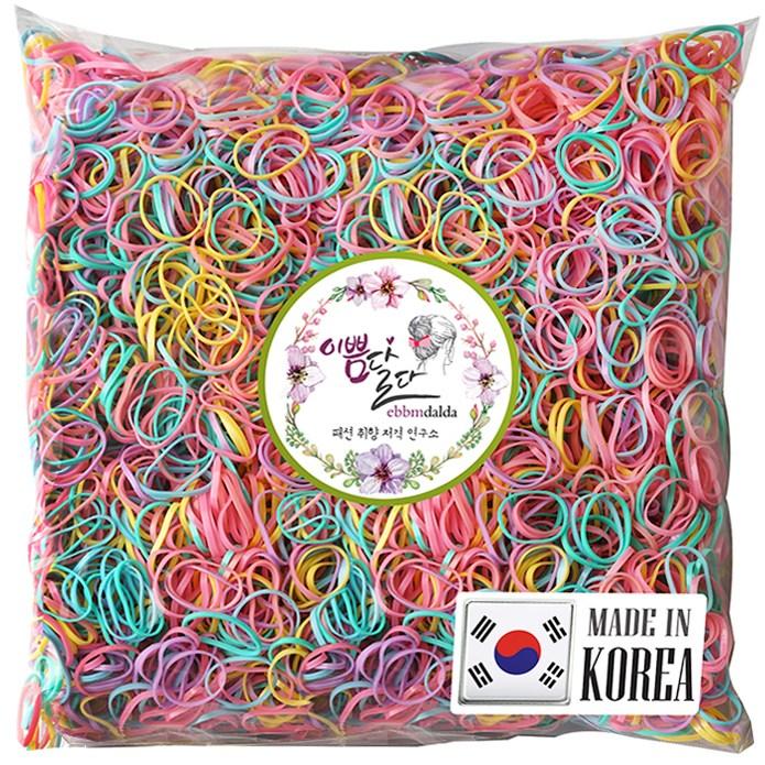이쁨달다 이쁨봉봉밴드 대용량머리끈 100g 유아동 칼라헤어링