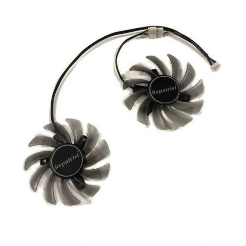 [해외] ASUS GTX760DC2OC2GD5 비디오 카드 냉각 용 2 75MM GTX 760 GPU VGA 쿨러 RX 560 그래픽 카드 팬, 상세내용표시
