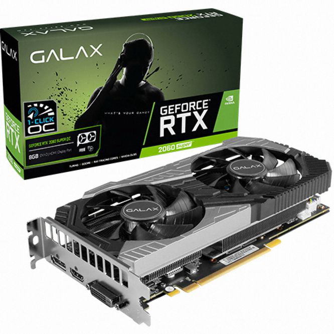 GALAX 지포스 RTX 2060 SUPER OC D6 8GB gtx1660슈퍼/1660super/그랙픽카드/gtx1060/rtx2070super/rtx2060super/rx580/rx570/그래픽카드rtx2060/rx570, 단일 모델명/품번