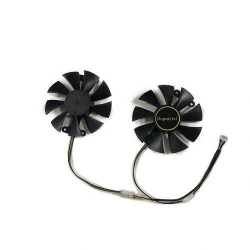 [해외] 2 GTX1060 GPU 쿨러 비디오 카드 팬 KFA2 GTX 1060 EX OC 화이트 그래픽 카드 교체 용 냉각, 상세내용표시