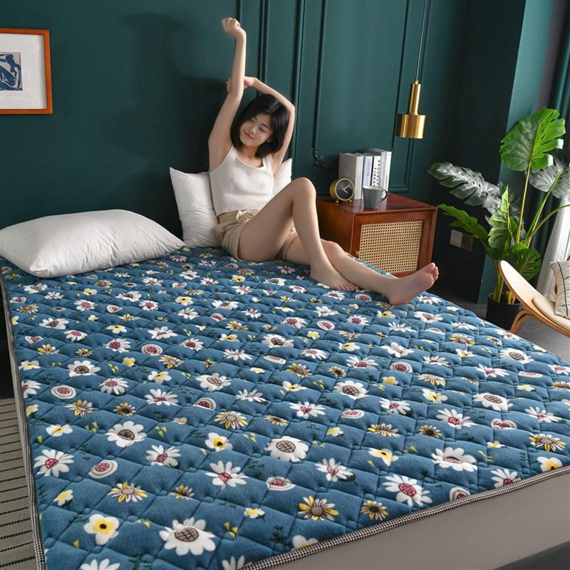 토퍼 템퍼 매트리스 침구 기타 겨울 쿠션 접이식 침대 기모 융털 매트, AF_1.0 x 2.0m