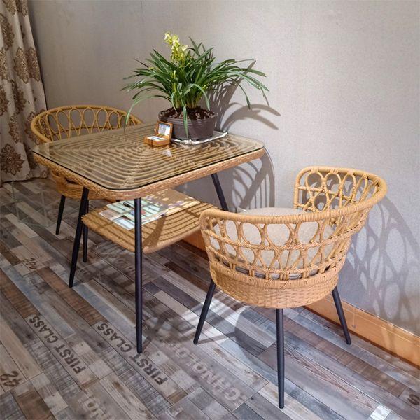 실내 야외 라탄테이블 라탄의자 라탄테이블의자세트, 의자