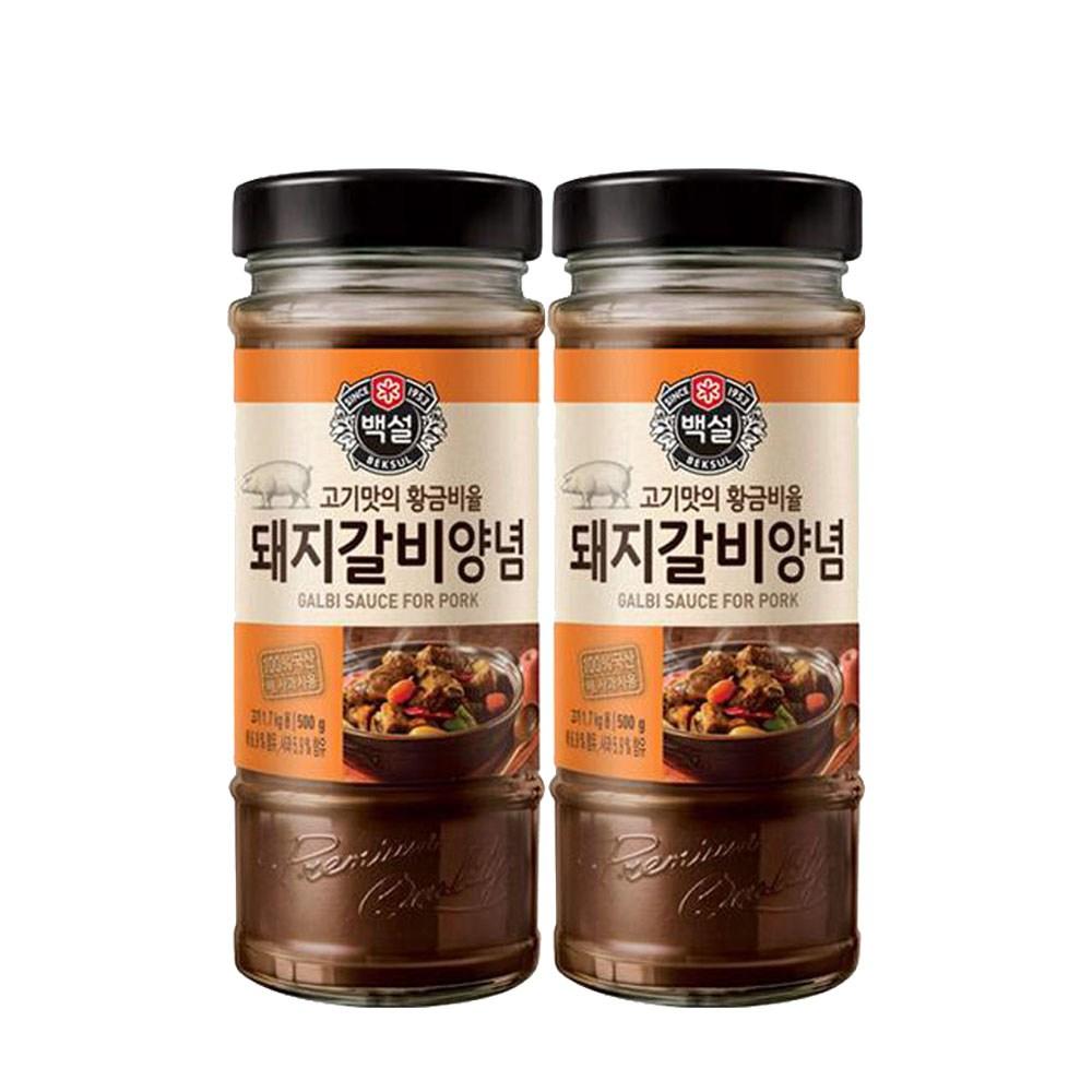 (상온)백설 돼지갈비양념500gx2개, 1세트