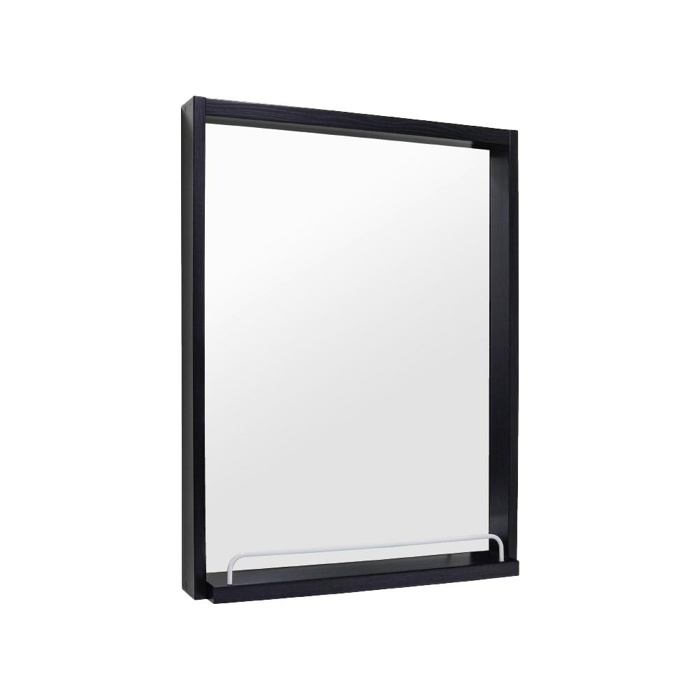 모카 화장대 수납 정리 욕실 선반 거울(600x800x120), 블랙