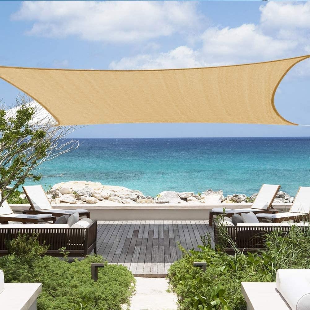 AM ANNA 사각 차광막 그늘막 HDPE 통기형 옥상 정원 캠핑 대형 주문제작, 1세트, 노란베이지(사각3m*3m)