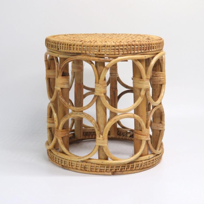 라탄 스툴 내추럴 등나무 의자 3종, B 폭 28cm, 높이 30cm