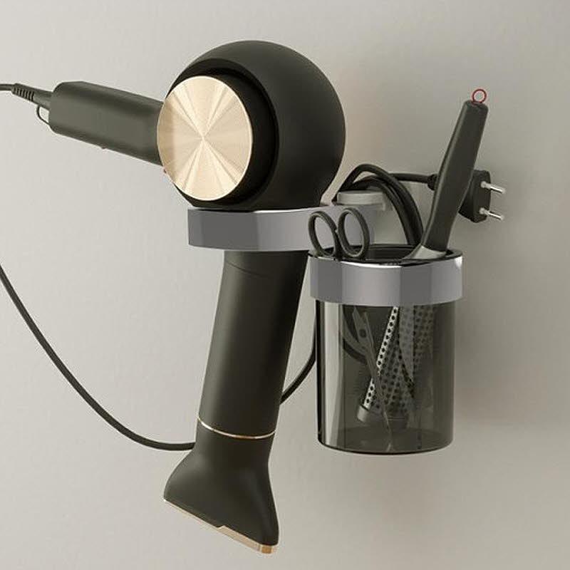 라이크홈즈 접착후크 2구 드라이기 걸이 거치대 홀더 2color, 1개, 화이트+화이트