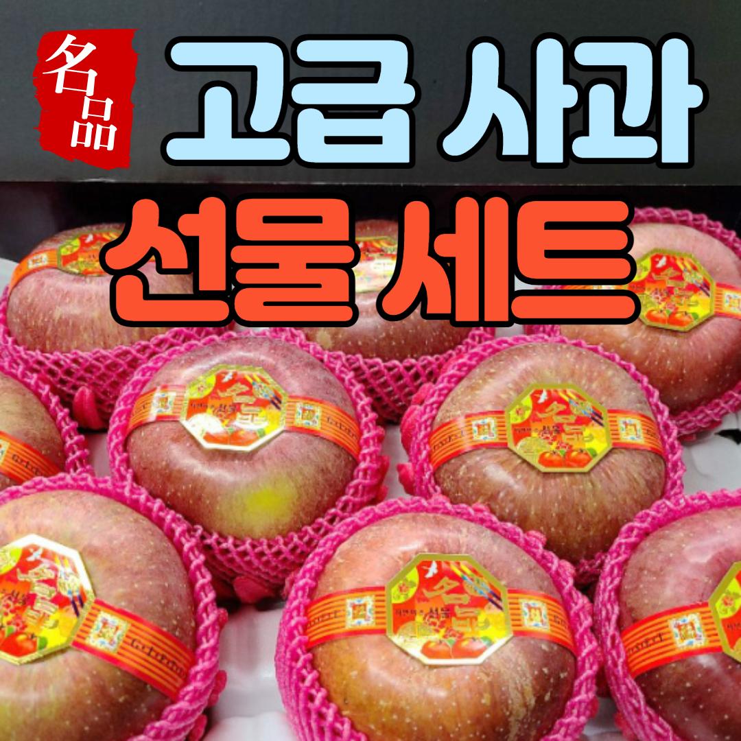 국민농수산 사과 선물 세트 선물용 설 명절 꿀사과, 고급 사과 선물 세트 4.5kg