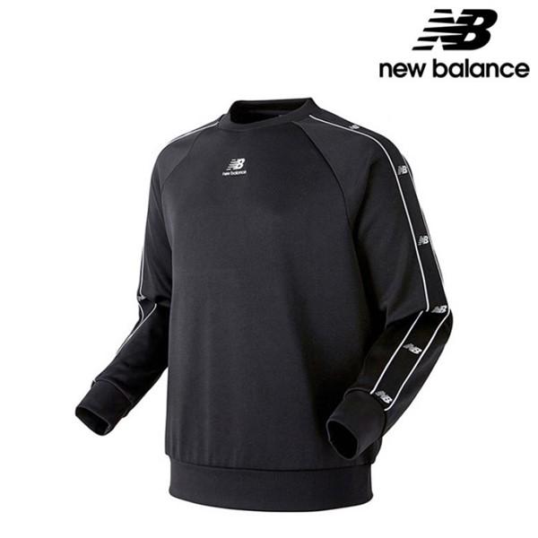 뉴발란스 UNI N 트랙클럽 트랙 공용 맨투맨 긴팔티 티셔츠 NBNCA14013 BK