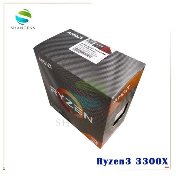 AMD Ryzen 3 3300X R3 3300X 3.8 GHz 쿼드 코어 8 스레드 65W CPU 프로세서 L3 = 16M 100-000000159 소켓 A, 한개옵션0