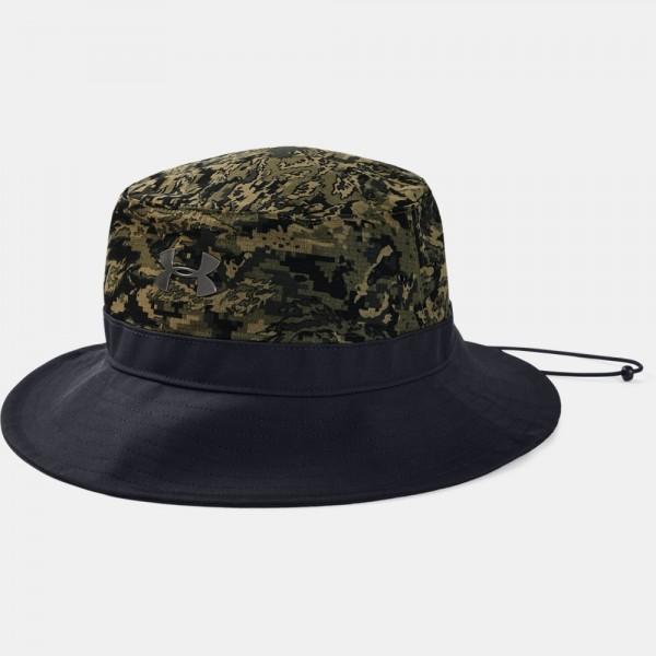 맨즈 언더아머 아머벤트 워리어 버킷햇 1328632-356 그린 벙거지 모자 정글모 수색모 카모 카고카키 메탈로고