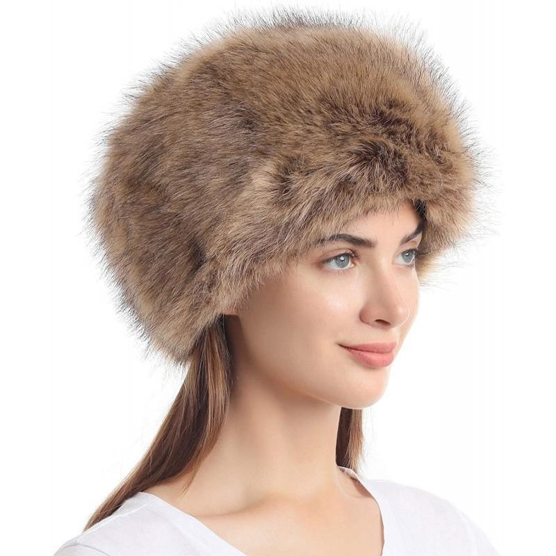 겨울 따뜻한 캡(자연)을 위한 스트레치가 있는 소울 젊은 여성 코삭 러시온 스타일 인조 털모자