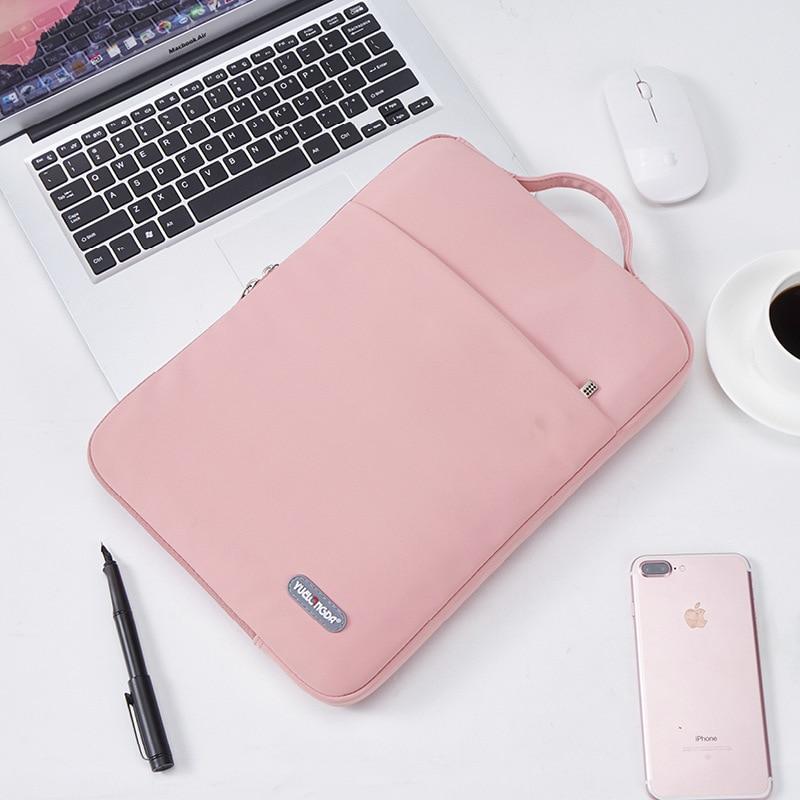 노트북 슬리브 휴대용 케이스 13 14 15.6 인치 HP 델 노트북 가방 맥북 에어 프로 13.3 충격 방지 케이스 남성 여성을위한|Laptop Bags & Cases|, 1개, 14-inch, pink