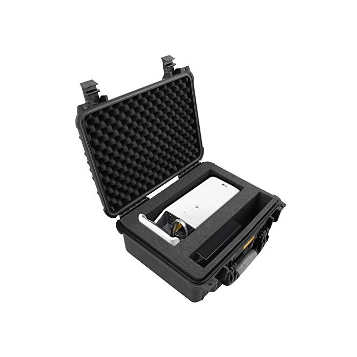 CASEMATIX Projectorbox(2019) Waterproof Short Throw Projector Carry Case Fits LG HF65LA Ultra LED, One Size, One Color