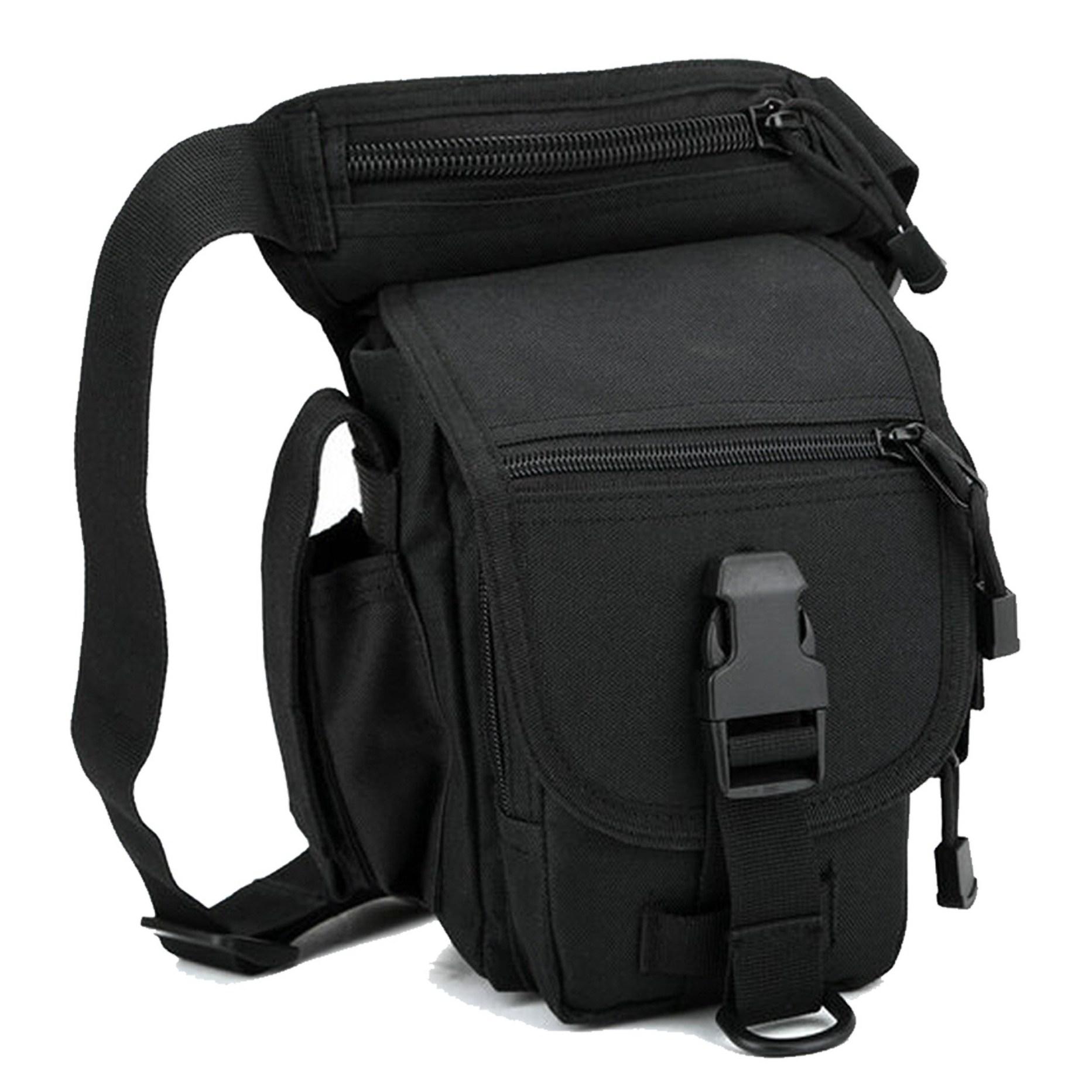오토바이가방 바이크 허벅지 다리착용 가방 워킹 낚시 보조가방 힙색 레그백, 블랙