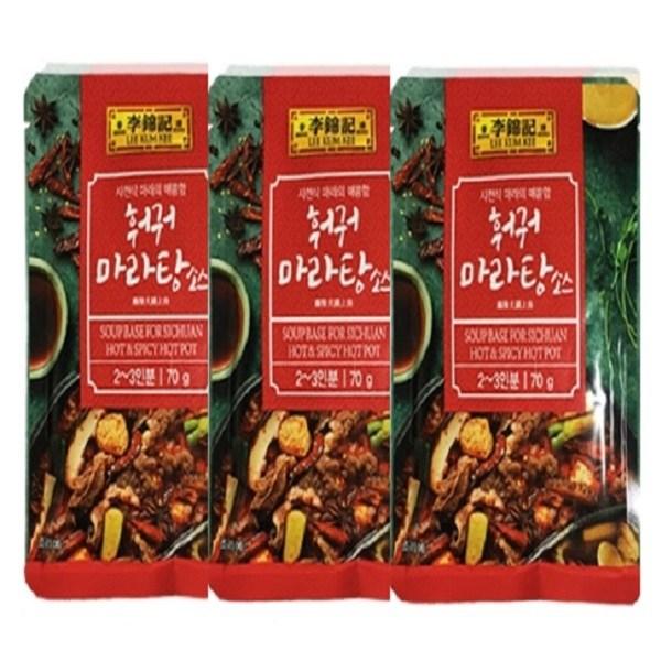 오뚜기 이금기 훠궈 마라탕 소스 70gx3개, 3개, 70g