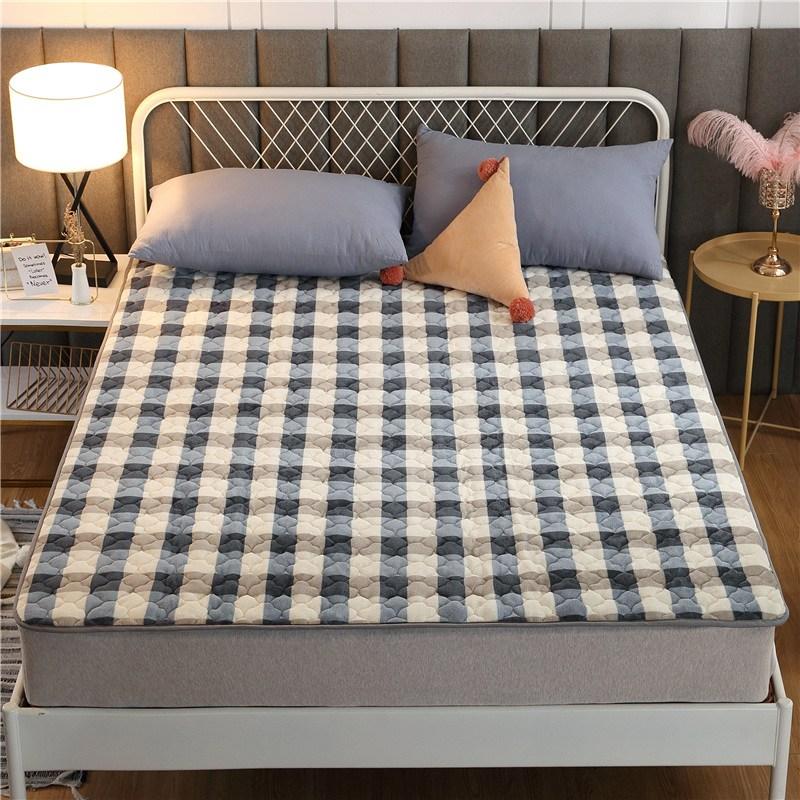토퍼 템퍼 매트리스 침구 기타 겨울 기모 쿠션 학생 기숙사 싱글 담요 침대, AJ_1.2 X 2m