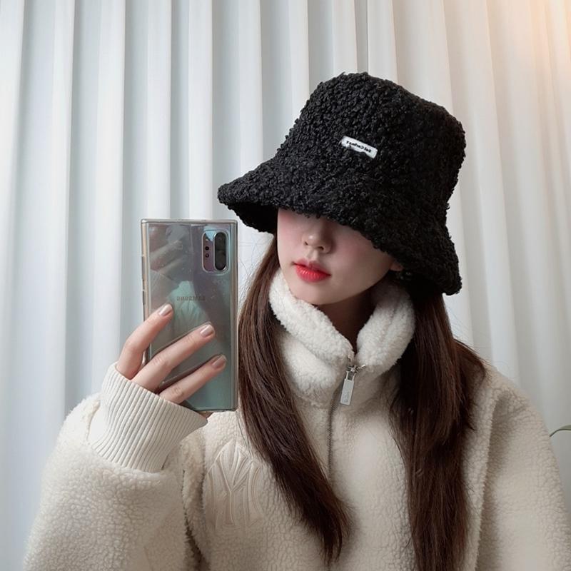 겨울 양털 오버핏 아이유 커플 벙거지 버킷햇 힙한 모자