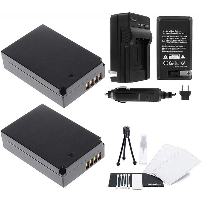 LP-E12 배터리 2 팩 번들 고속 여행용 충전기 및 EOS M EOS M2 EOS M10 EOS M50 EOS M100 Rebel SL1 및 EOS 100D를 포함, 단일옵션