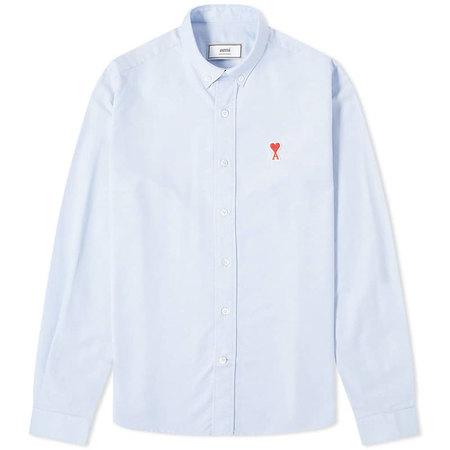 [멸치쇼핑][아미] 남성 하트로고 옥스포드 셔츠 (라이트블루) A20HC013.45 459