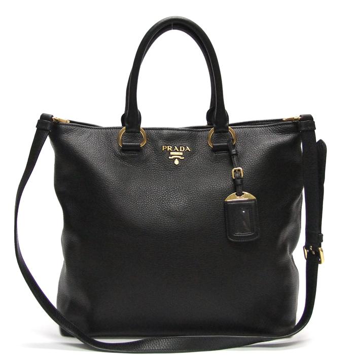 [뉴욕명품] Prada(프라다) 가방 1BG865 블랙 비텔로 피닉스 금장 로고 2-WAY
