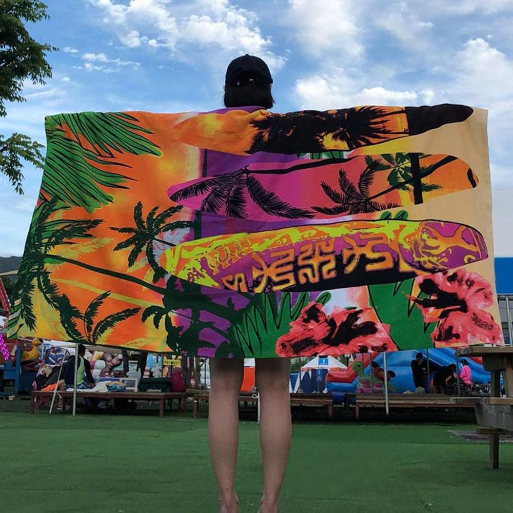 케이투나인 특대형 비치타올 180cm x 100cm, 1개, 특대 서핑매니아 비치타올