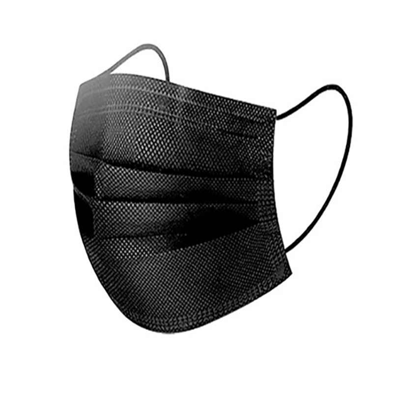 (당일발송)청정 부직포마스크 일회용마스크 블랙 대형, 1개, 10매입