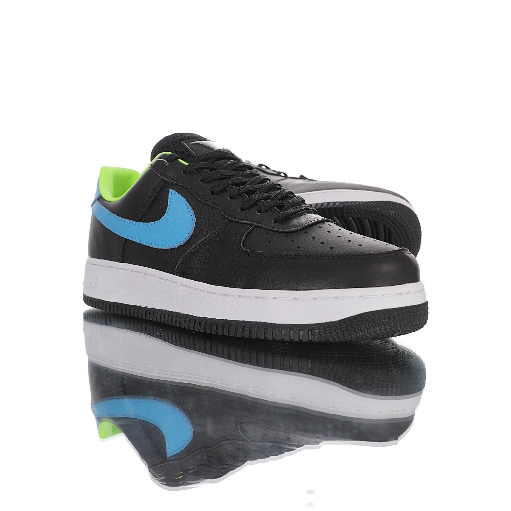 Nike Air Force 나이키 에어 포스 1 07 Low PremiumBlackBlueGreen 315122 - 111 남성운동화 블루그린 + 양말 증정