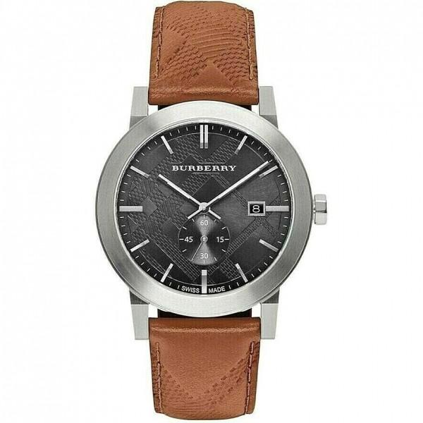 410160 / Brand New Burberry City BU9905 Embossed Check Men's Watch