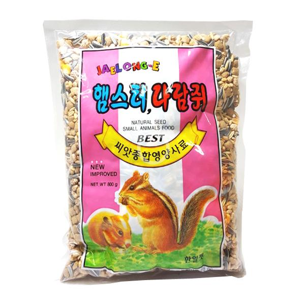 재롱이 씨앗종합 영양사료 800g 햄스터사료 햄스터푸드, 1개
