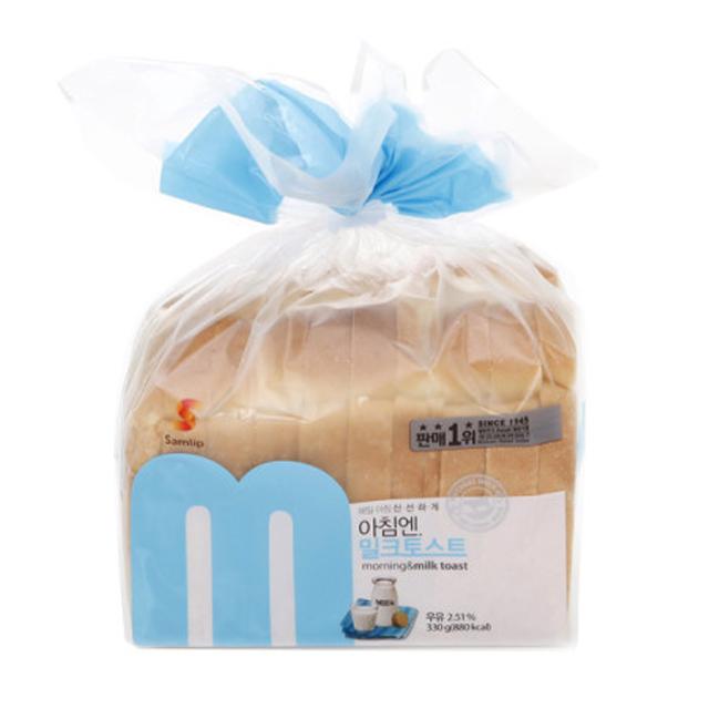 삼립 아침엔 우유 밀크토스트 2봉 식빵 샌드위치, 2개, 330g