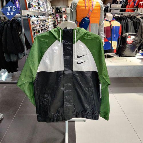 해외 남녀 나이키 자켓 바람막이 윈드러너 후드집엎 아노락 스우시 우븐 점퍼 남성 여성 Nike Nike Double Hook Sports Windbreaker Deconstructed Hooded Couple Jacket Big Hook Jacket Men