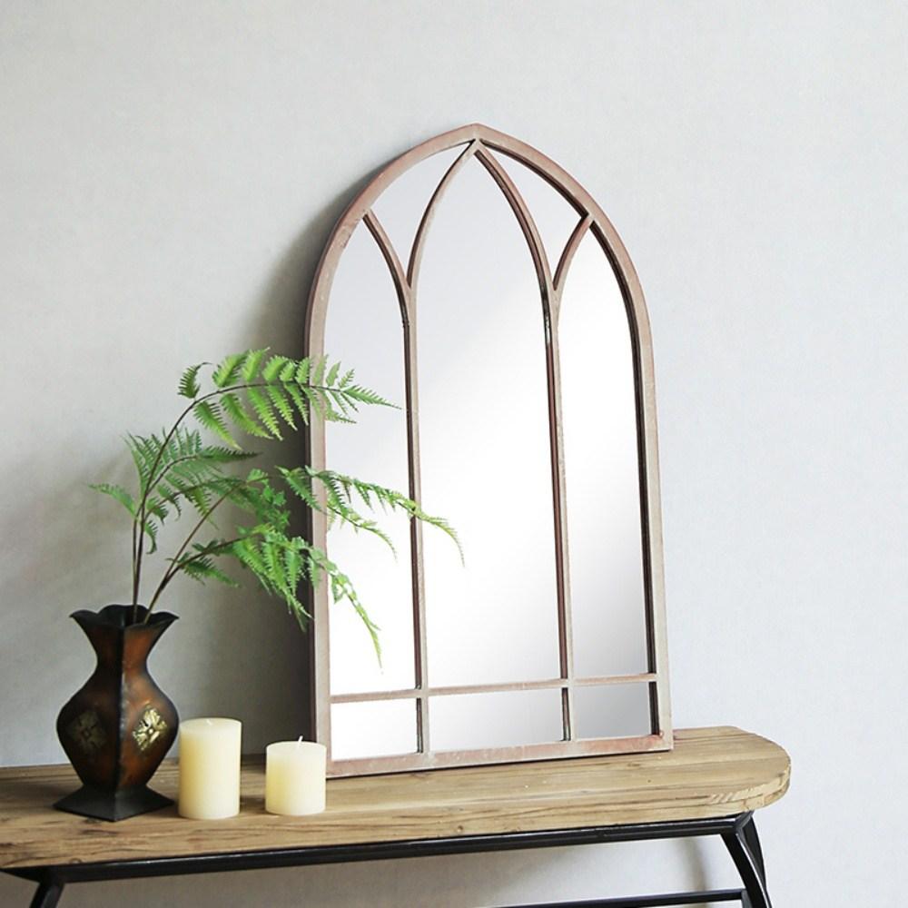 빈티지 인테리어 레트로 창문 디자인 촬영소품 거울 미러, 단일색상