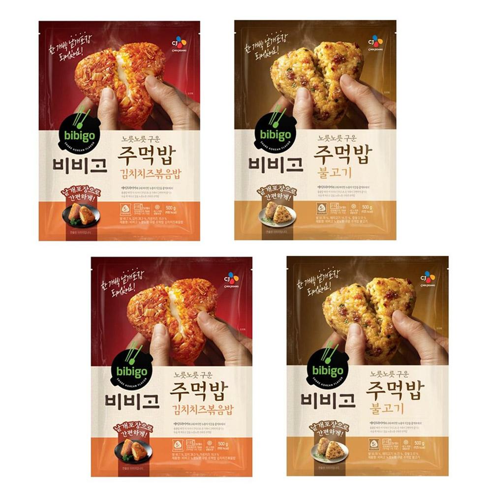 비비고 주먹밥 (김치치즈볶음밥 x2개 + 불고기 x2개), 4개