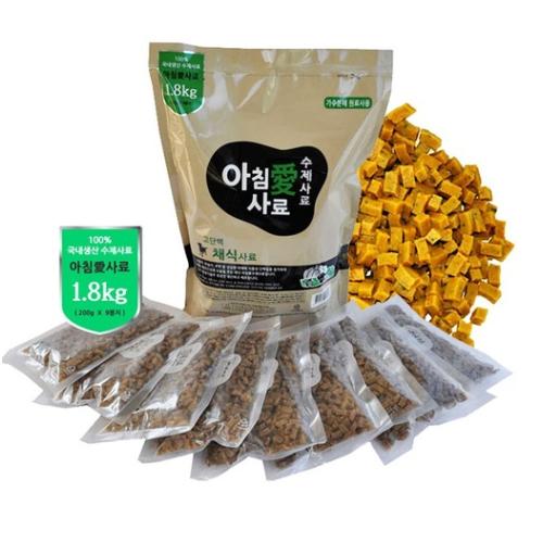 아침애사료 고단백 채식사료 1.8kg, 1개