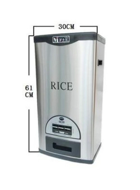 쌀단지 샤오미쌀통 밀봉 보관통 진공쌀통 잡곡, 블랙(20kg사이즈)