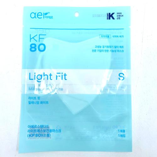아에르 라이트핏 마스크 KF80 소형 1매, 1개